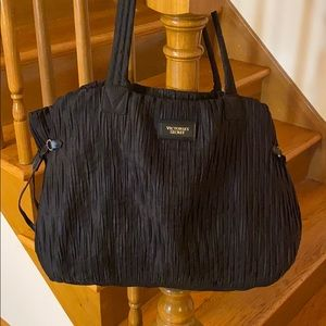 Victoria's Secret black polyester silky large bag